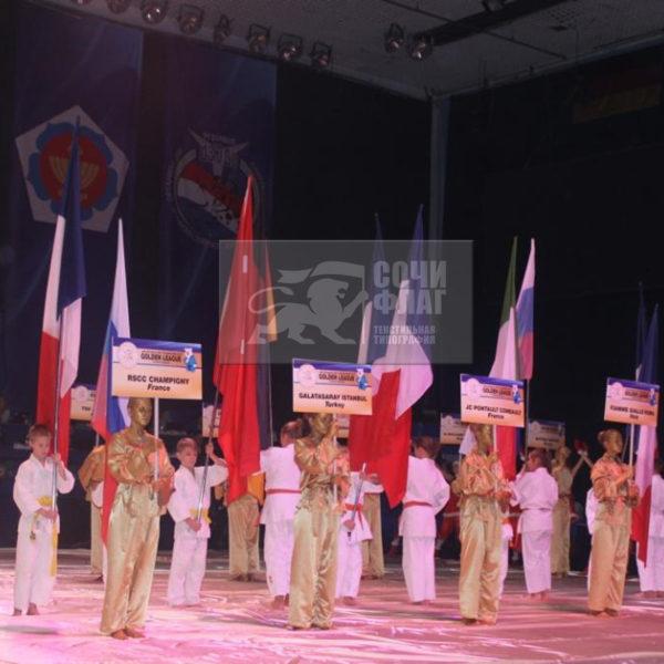 флаги на чемпионат по дзюдо в г. Самаре.