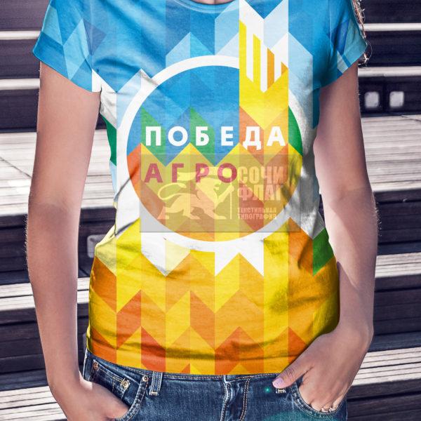 футболка с максимальной запечаткой
